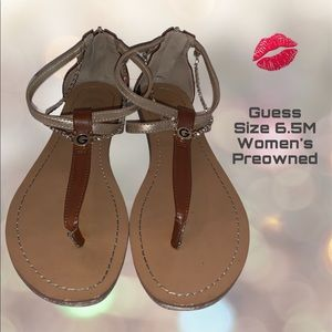 G By Guess Sandals Size 6.5M Women's Brown